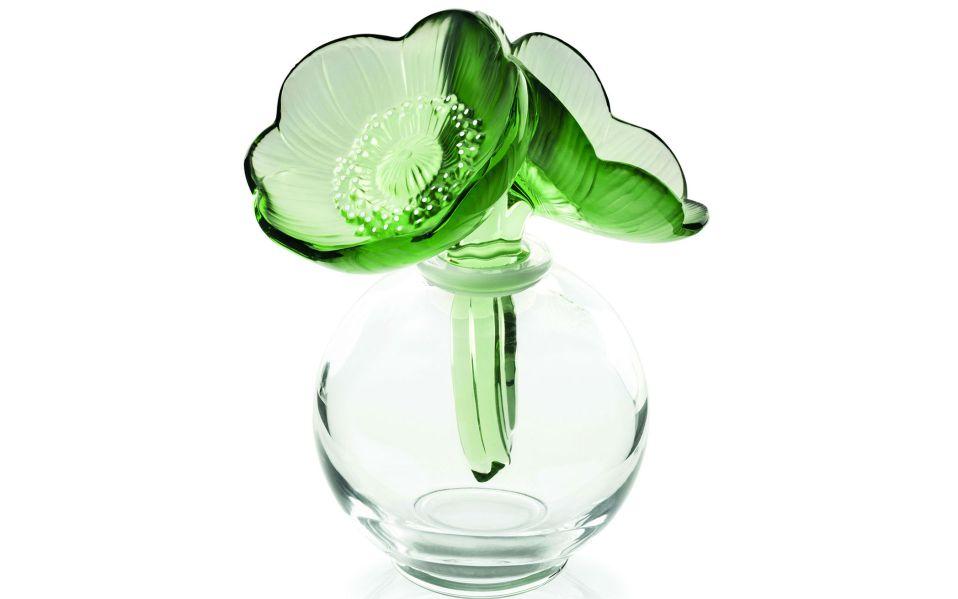 lalique green anemones flacon