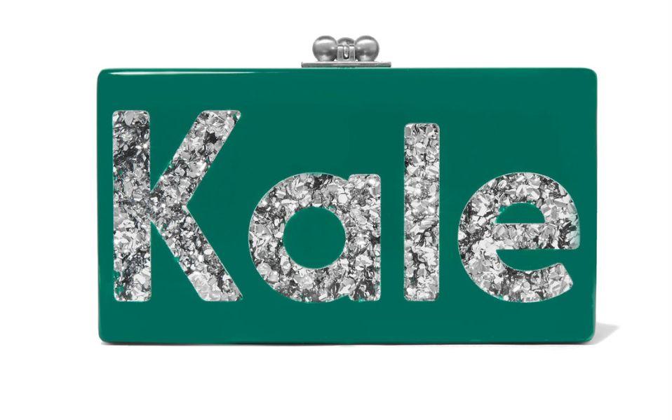 Jean Kale Glittered Acrylic Box Clutch
