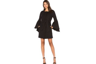 milly-womens-flare-sleeve-tie-coat