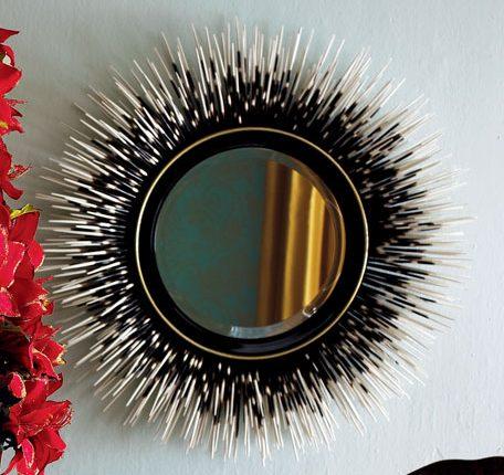 decorative mirror Janice Minor porcupine quill