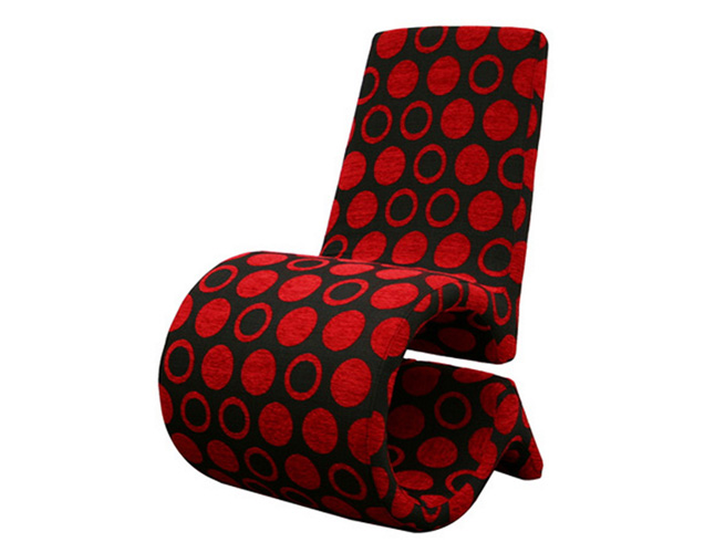 Accent Chair Red and Black Baxton