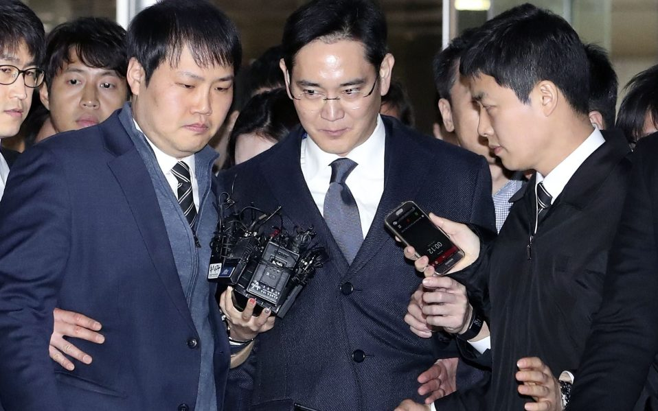 Samsung chief Lee Jae-yong under detention,