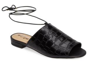 Sam Edelman Tai Slide Sandal Black Leather