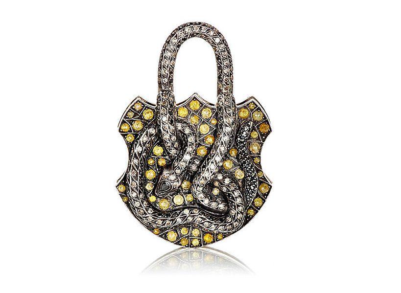 Serpent Padlock Charm