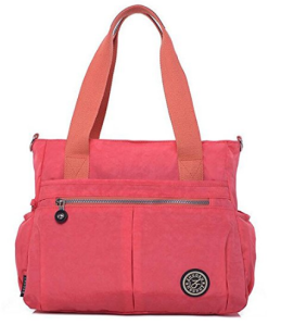 Travel Water Resistant Nylon Tote Shoulder Bag Crossbody Handbag