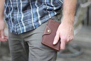 Handmade leather wallet amazon