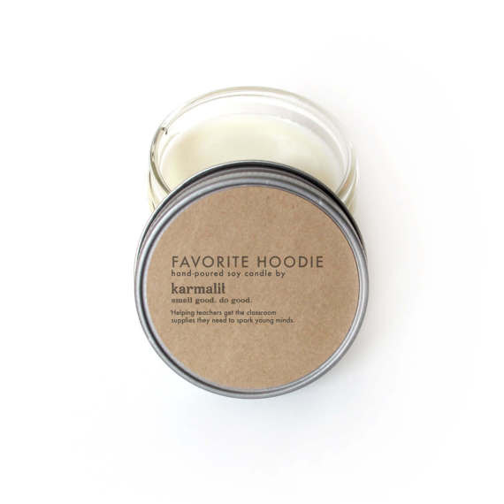 Karmalit's Favorite Hoodie Candle is the