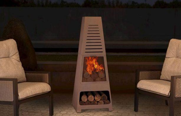 Steel Fireplace Sunjoy