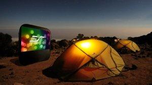 Elite Screens Pop-up Cinema Series, 84-inch 16:9, Portable Spring Indoor Outdoor Camping Projector Screen, POP84H