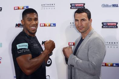Anthony Joshua v Wladimir Klitschko press conference, Cologne, Germany - 16 Feb 2017