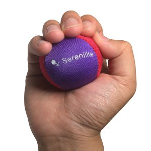 Serenilite Dual Colored Hand Therapy Stress Ball - Optimal Stress Relief - Great for Hand Exercises and Strengthening
