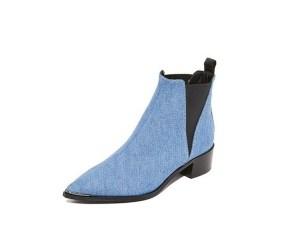 Acne Ankle Boots Denim Shop Bop