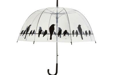 birds on a wire clear umbrella Esschert Design