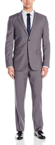 Nautica Men's Vertical 2 Button Side Vent Nested Suit
