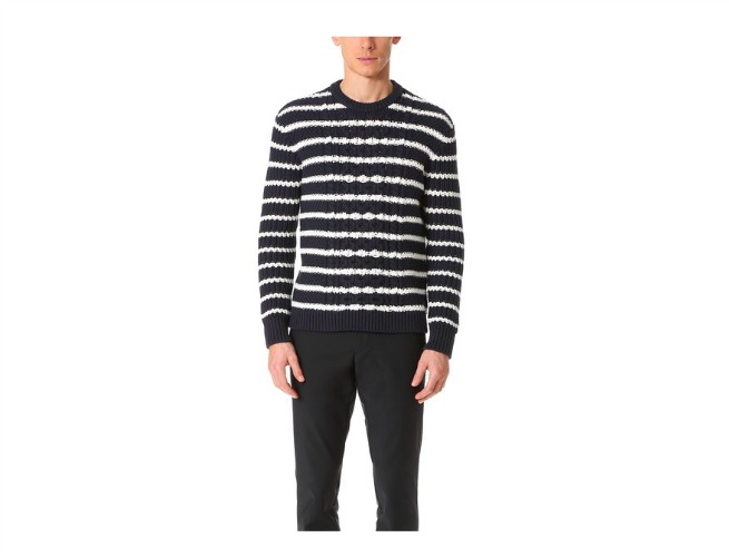 club monaco cable crew sweater
