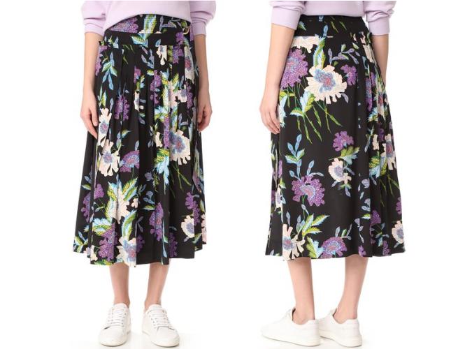 diane von furstenberg floral skirt