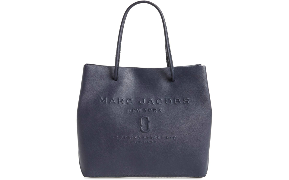 marc jacobs leather logo tote