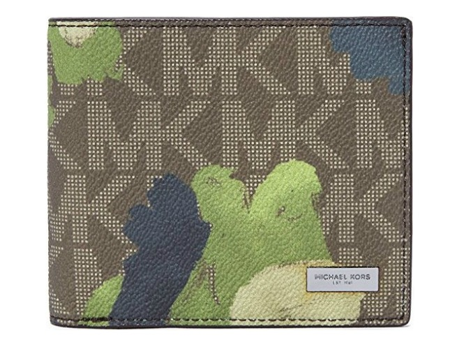 michael kors jetset painterly camo wallet