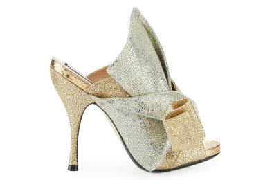 No 21 Glittered 100mm Mule Sandal Gold