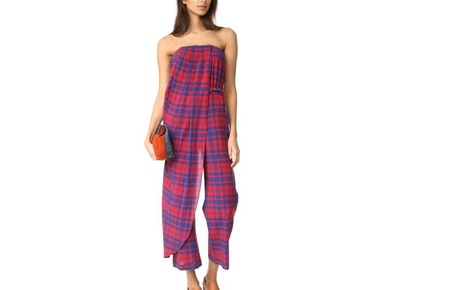 Classic Plaid Jumpsuit Gets a Chic