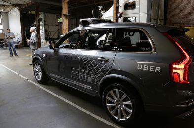 Uber Self Driving Cars, San Francisco, USA - 13 Dec 2016