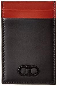 Salvatore Ferragamo Double Gancio Leather Card Case
