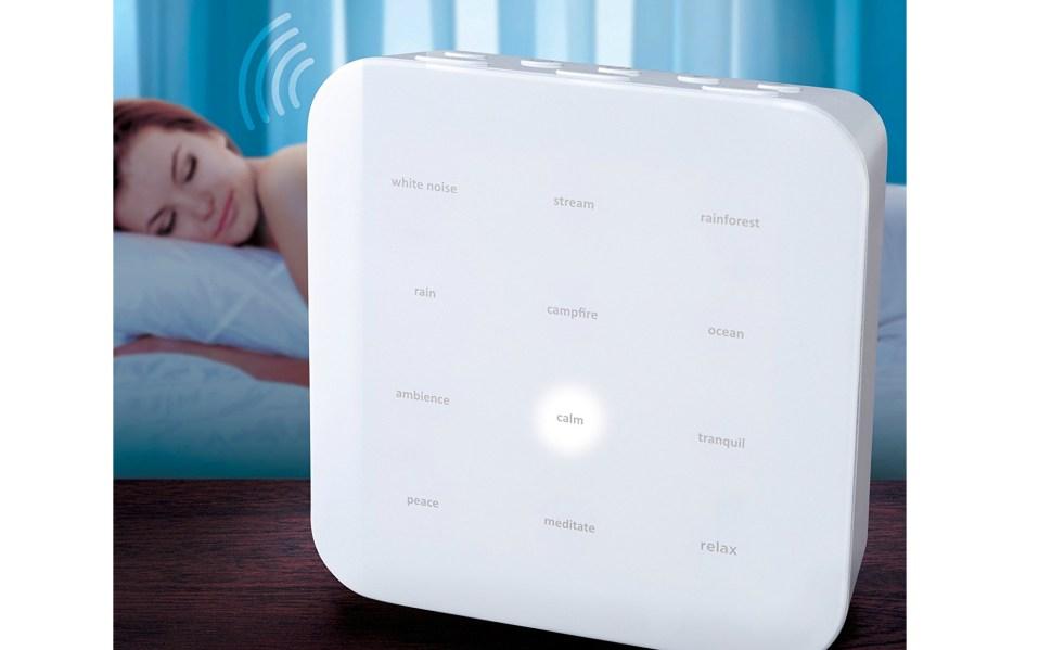 sharper image sleep machine