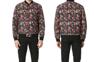 Club Monaco Men's Printed Floral Bomber Jacket