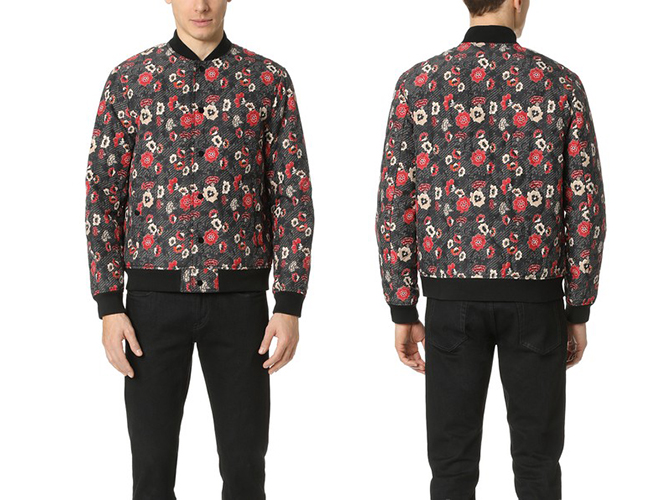 Club Monaco's Floral Print Bomber Jacket