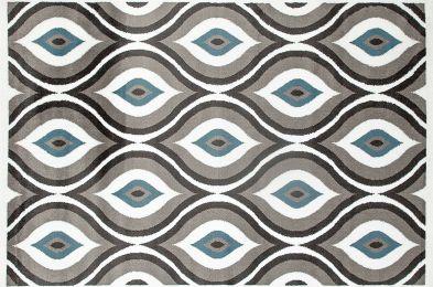"Rugshop Modern Trellis Design Area Rug, 7' 10"" x 10' 2"", Gray/Blue"