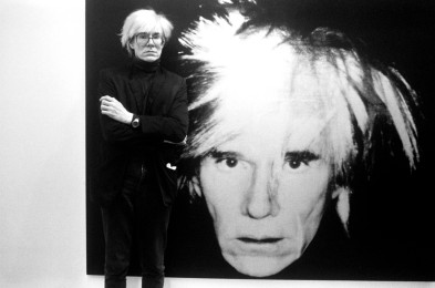 ANDY WARHOL AT THE OPENING OF HIS SELF PORTRAIT SHOW AT ANTHONY D'OFFAY GALLERY IN LONDON, BRITAIN - 1986