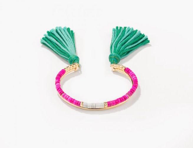 beaded tassel bracelet Aurelie Bidermann