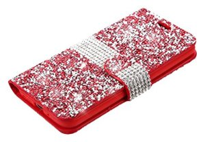 Asmyna Wallet Case for LG G5 - Red