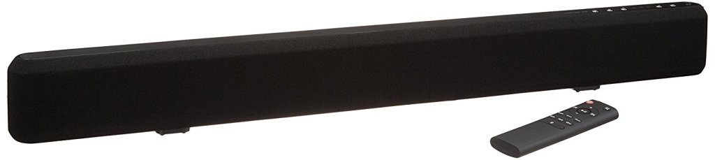 AmazonBasics 2.1 Channel Bluetooth Sound Bar with Built-In Subwoofer