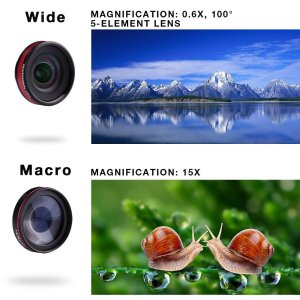 Holigoo 2 in 1 Cellphone Camera Lens kit