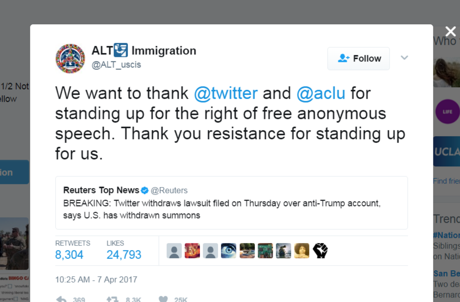 Trump Loses Twitter Fight To Reveal