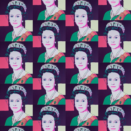 Andy Warhol x Flavor Paper Queen Elizabeth Wallpaper on EZ Papes