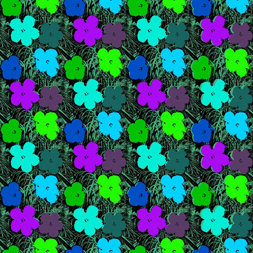 Andy Warhol x Flavor Paper Small Flowers Wallpaper on EZ Papes