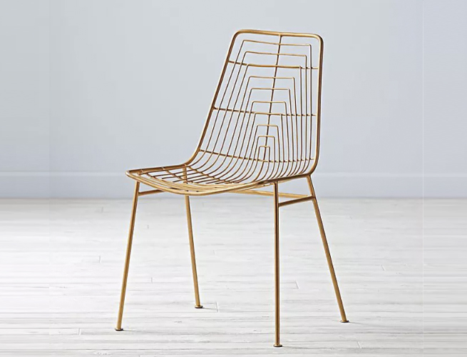 Brass Side Chair Land of Nod