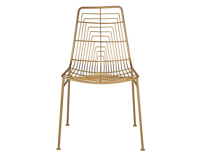 Brass Side Chair Land of Nod Domino