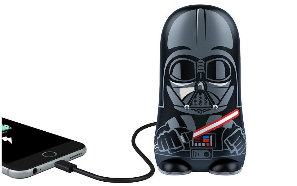 This Portable Darth Vader Charger Keeps