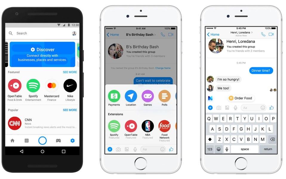 Facebook Messenger Platform 2.0 Introduces Discover