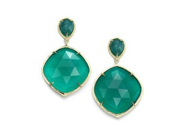 Green Onyx Emerald Earrings
