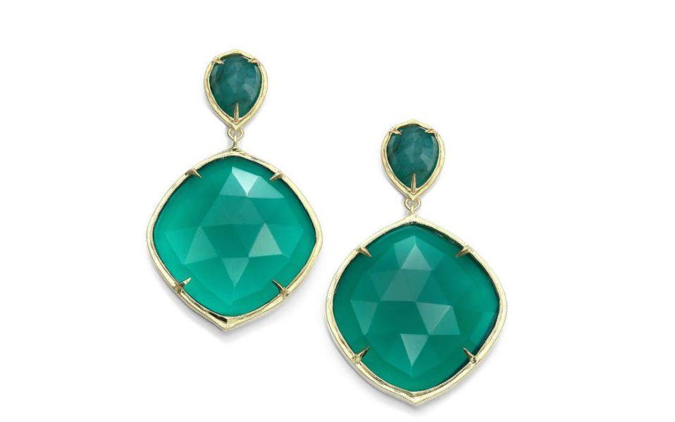 Green Onyx Emerald Earrings