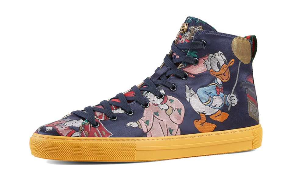donald duck sneaker gucci