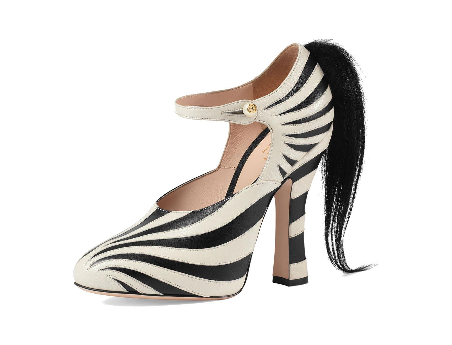 Lesley Zebra-Print Mary Jane Pumps