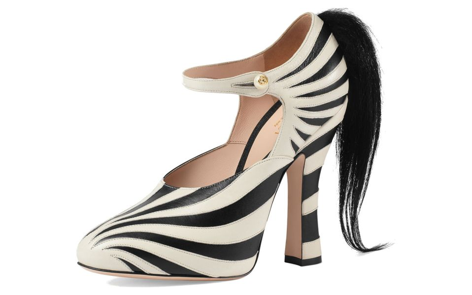 Lesley Zebra-Print Mary Jane Pump