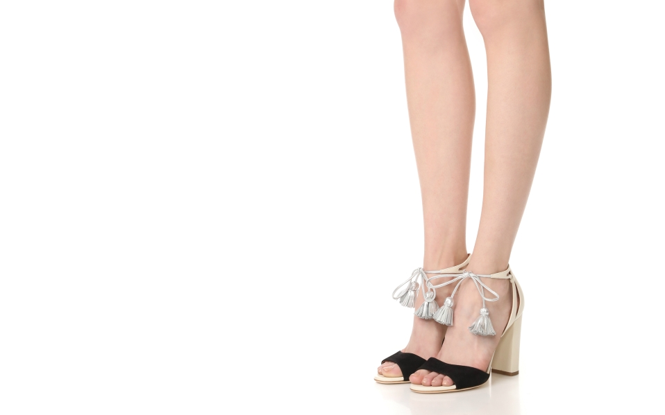 Malone Souliers Tassel-Tipped Sandals Add Trendy