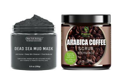 mud mask coffee scrub