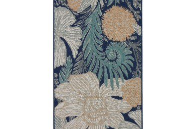 Threshold Woodcut Floral Outdoor Rug